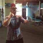 Lou Storiale hitting the speed bag